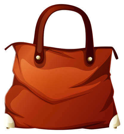 Handbag on white background illustration Ilustração