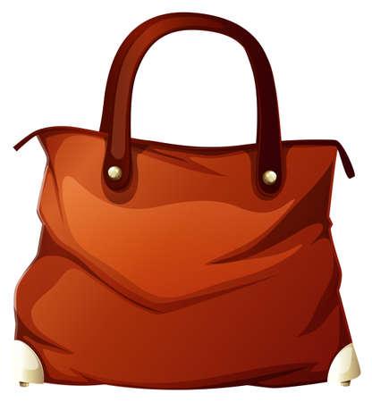 Handbag on white background illustration Stock Illustratie