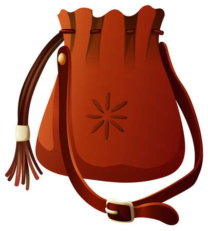 Small bag in brown color illustration