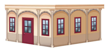 empty: Building design with vintage style illustration Illustration