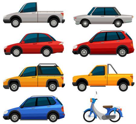 Different types of transportations illustration