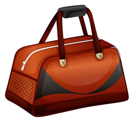 Bowling bag in brown color illustration