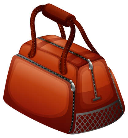 Handbag in brown color illustration