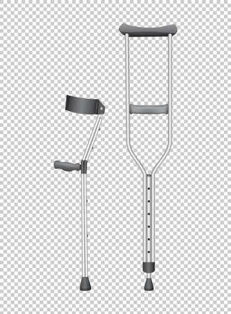 Two walking sticks for handicaped illustration