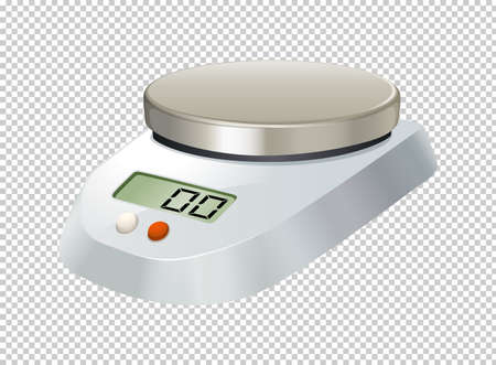 Digital scale with flat plate illustration