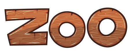 Font design for word zoo illustration Illustration