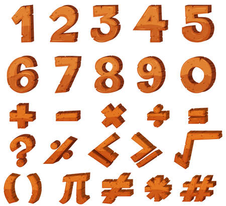 Font design for numbers  illustration