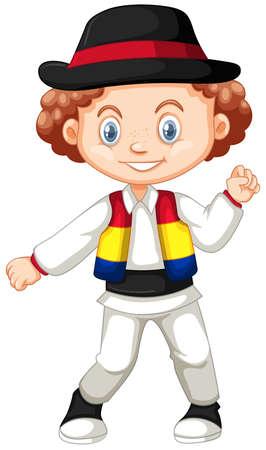 Little boy from Romania illustration