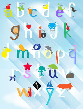 Poster design for english alphabets illustration