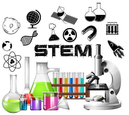 mathematics: Poster design for STEM education illustration