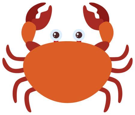 Brown crab on white background illustration