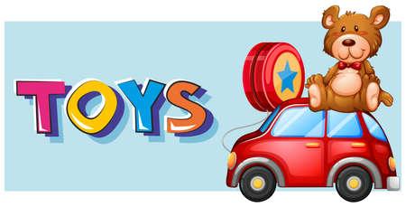 Poster design for toys illustration Illustration