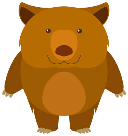 Wombat en la ilustración de fondo blanco Vectores