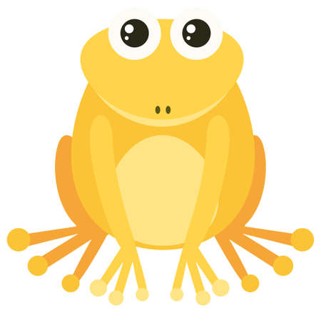 drawings image: Yellow frog with happy face illustration Illustration
