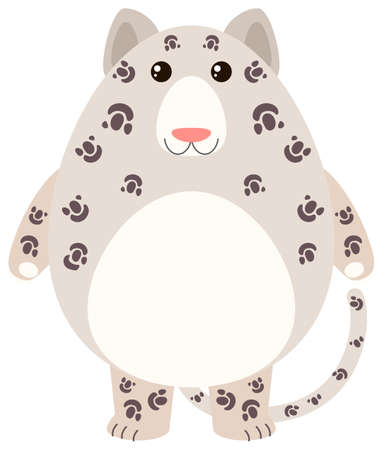Leopard with happy face illustration