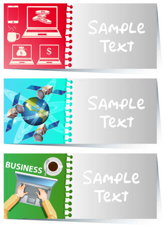 businesscard: Businesscard template with business items illustration