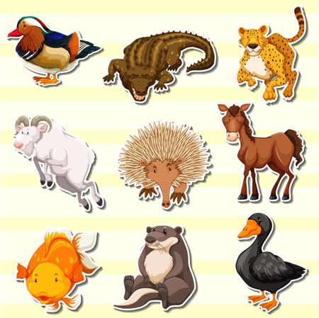 Sticker design illustration. Illustration