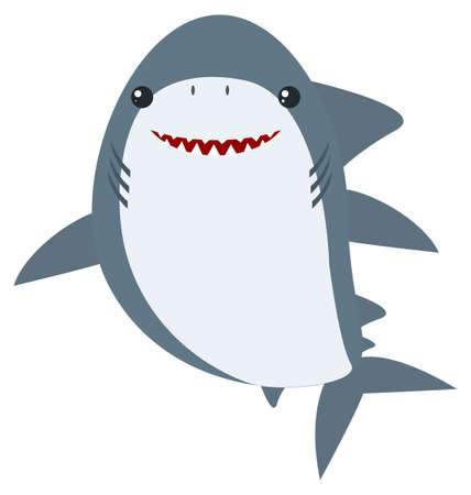 great: Great white shark illustration.