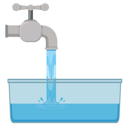 sink: Tab water in the sink illustration