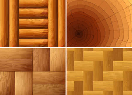 Four background texture of wood illustration.