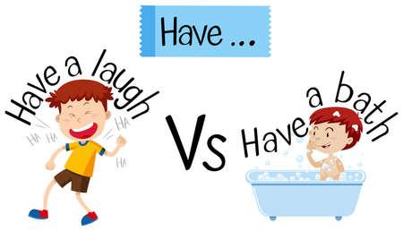 English phrases starting with have illustration  イラスト・ベクター素材