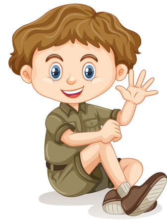 A young Boy Scout illustration