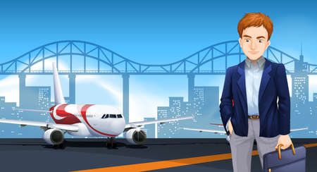 A Business Man scene illustration