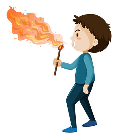 A Fire Blower on White Background illustration
