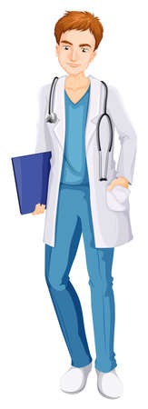 A Male wearing a Nurse outfit illustration Иллюстрация