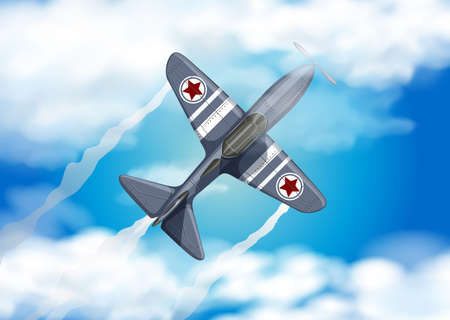 Army Air Force on the Blue Sky illustration