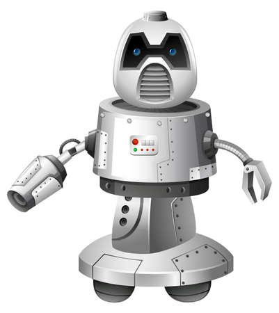 A Modern Robot on White Background illustration