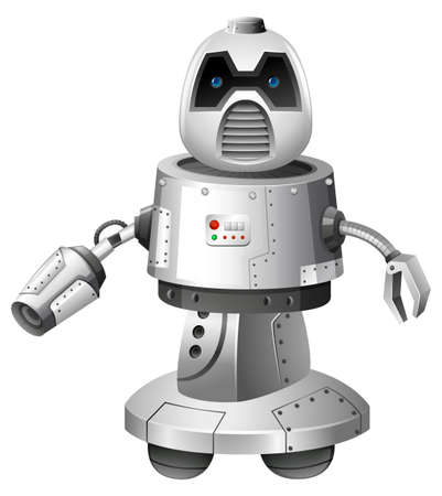 A Modern Robot on White Background illustration