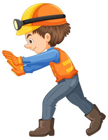 A Construction Worker on White Background illustration Ilustração