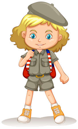 A young Girl Scout illustration