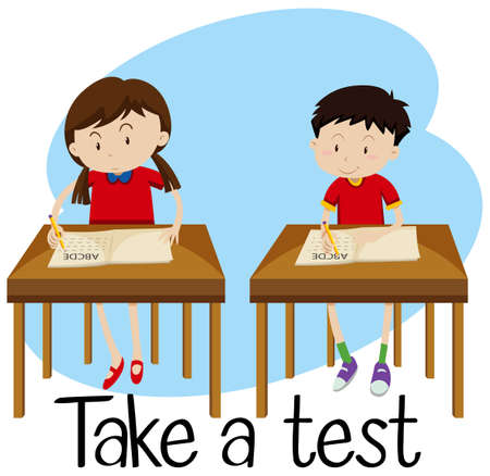 Students are Taking a Test illustration