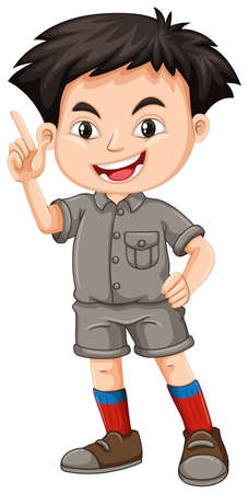 A Cute Zoo Keeper on White Background illustration Illustration