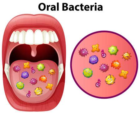 An Image Showing Oral Bacteria Vector illustration. Illustration