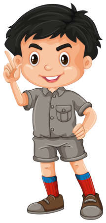 A Cute Zoo Keeper on White Background illustration 向量圖像