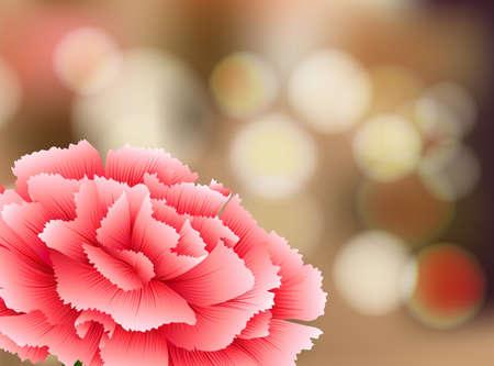 Carnation Flower on Nature Background illustration