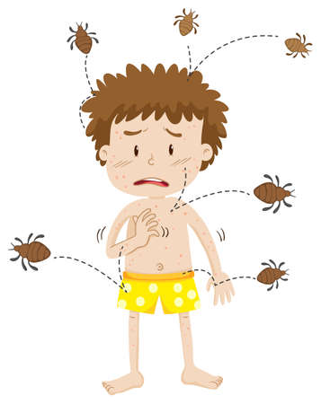 A Man Having Dust Mite Allergy illustration Illustration