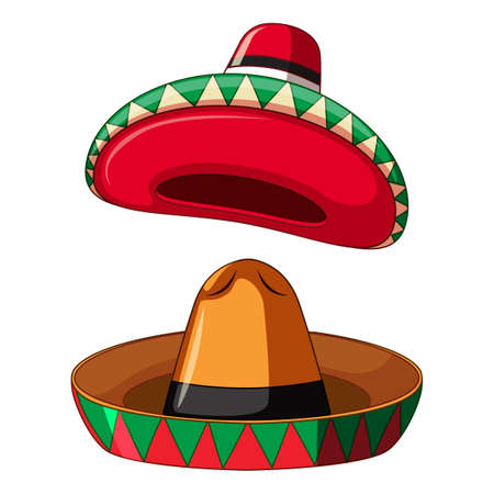 Mexican Sombrero on White Background illustration
