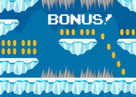Cold Iceberg Bonus Game Template illustration Ilustração