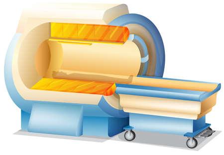 MRI Scanner on White Background illustration