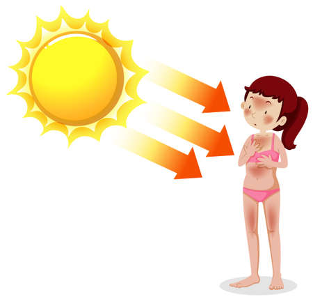 A Young Women Getting Tan illustration Illustration
