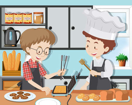 A Cooking Class with Professinal Chef illustration