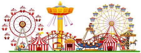 Un panorama de l'illustration de la fête foraine