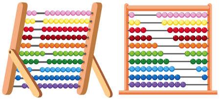 Een kleurrijke telraam op witte achtergrond illustratie Vector Illustratie