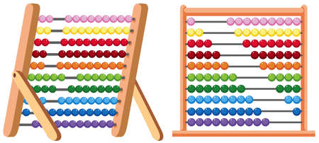 Un colorato Abacus su sfondo bianco illustrazione Vettoriali