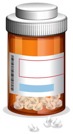 Medicine and Prescription on Whote Backgroung illustration