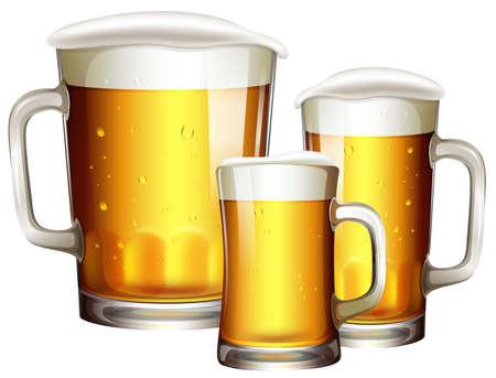 Tailles de l'illustration de verre à bière